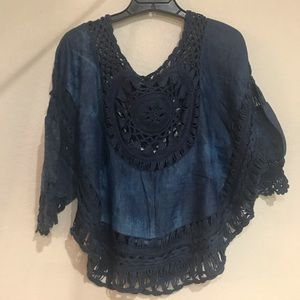 Tops - Blue Tunic Blouse